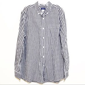 Basic Editions Black Gingham Button Down Shirt XLT